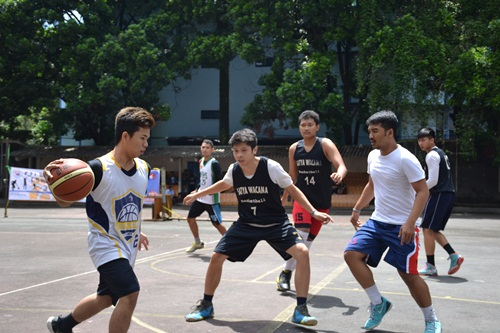 Sambut Dies Natalis FTI Gelar 3 on 3 Basketball Competition